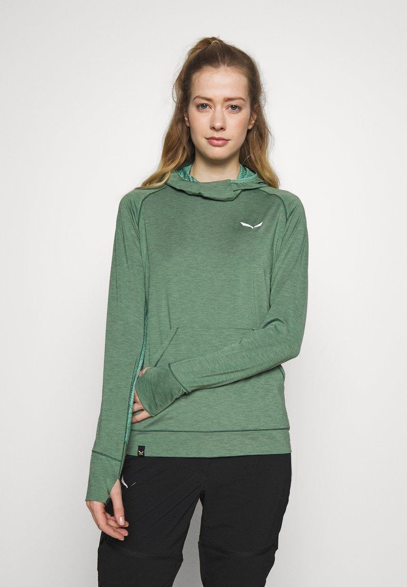 Salewa - PUEZ MELANGE DRY HDY - T-shirt sportiva - feldspar green melange