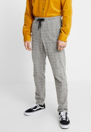 JJIWILL JJCHRIS CHECK PANTS - Tracksuit bottoms - grey melange