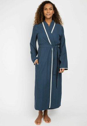 MORGEN JUDY HERRINGBONE - Dressing gown - navy