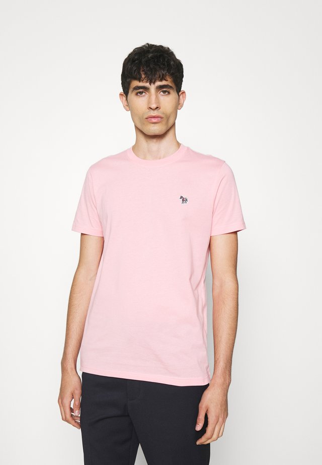 ZEBRA BADGE UNISEX - Jednoduché triko - pink