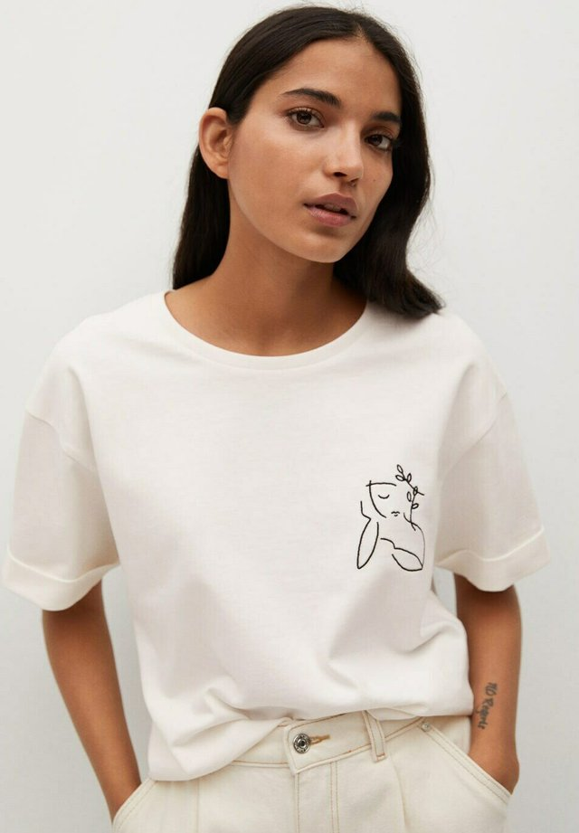T-shirt print - wit