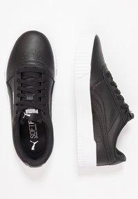 Puma - CARINA  - Sneakers - black/white/silver - 3