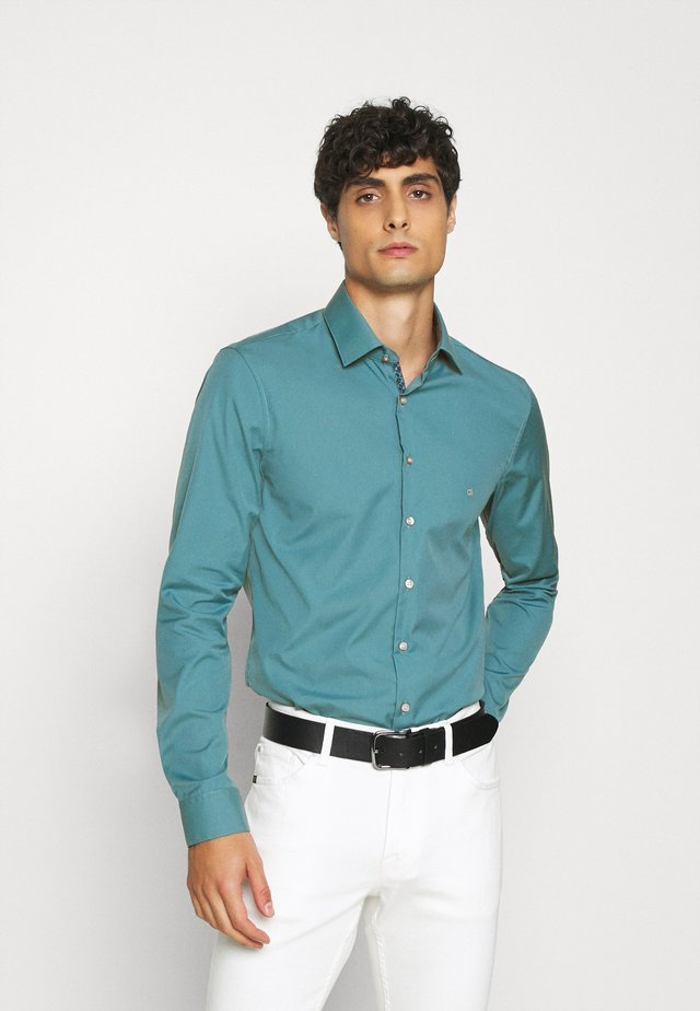CONTRAST FLOWER PRINT SLIM - Formal shirt - blue