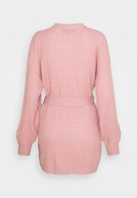 Missguided Tall - WAFFLE STITCH BELTED BALLOON SLEEVE CARDI - Cardigan - rose - 1