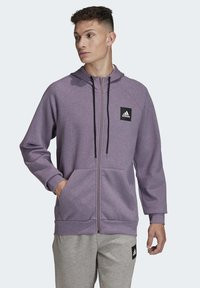 adidas Performance - MUST HAVES STADIUM HOODIE - Hættetrøjer - purple melange - 0