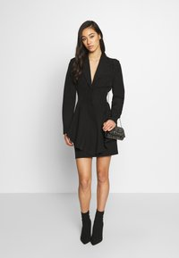 Nly by Nelly - FRILL SUIT DRESS - Shift dress - black - 1