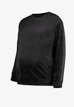 VELOURS SCHIMMER - Pyjama top - black