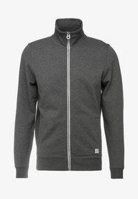 Zip-up sweatshirt - black grey melange
