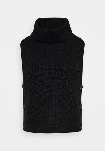 PULLO - Waistcoat - black