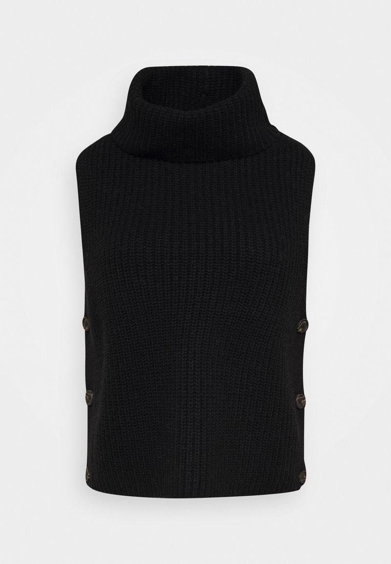Opus - PULLO - Waistcoat - black