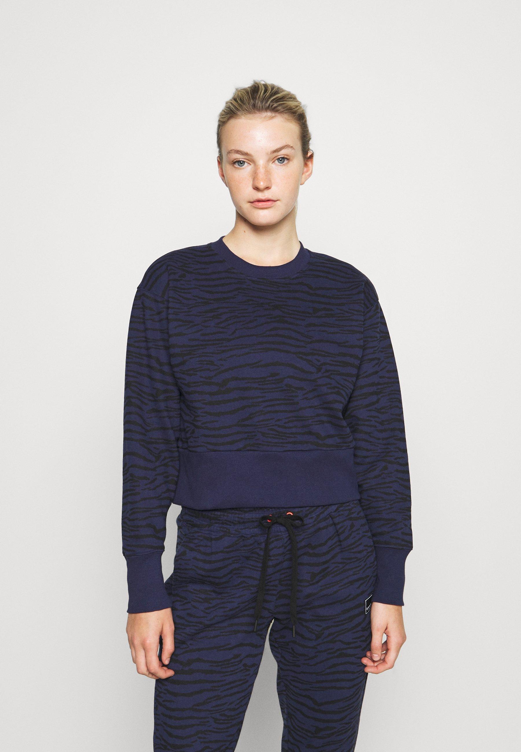 Damen TIGER KING PRINT CROPPED DROP SHOULDER CREW NECK - Sweatshirt