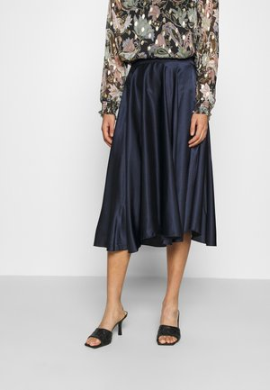 MILANA PLEATED MIDI SKIRT - A-linjainen hame - navy blue