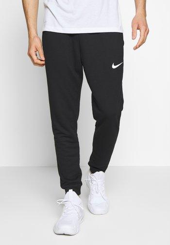 DRY PANT TAPER - Pantalones deportivos - black/white