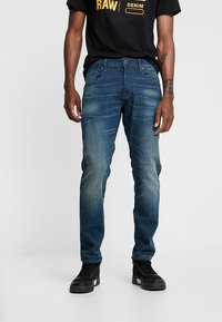 G-Star - 3301 SLIM - Jean slim - medium aged - 0