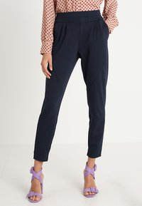 Cream - ANETT PANTS - Trousers - royal navy blue - 0