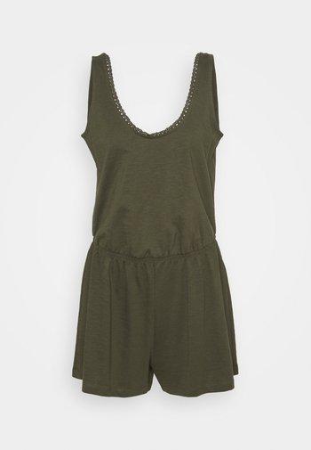 SLUB CROCHE - Jumpsuit - khaki green