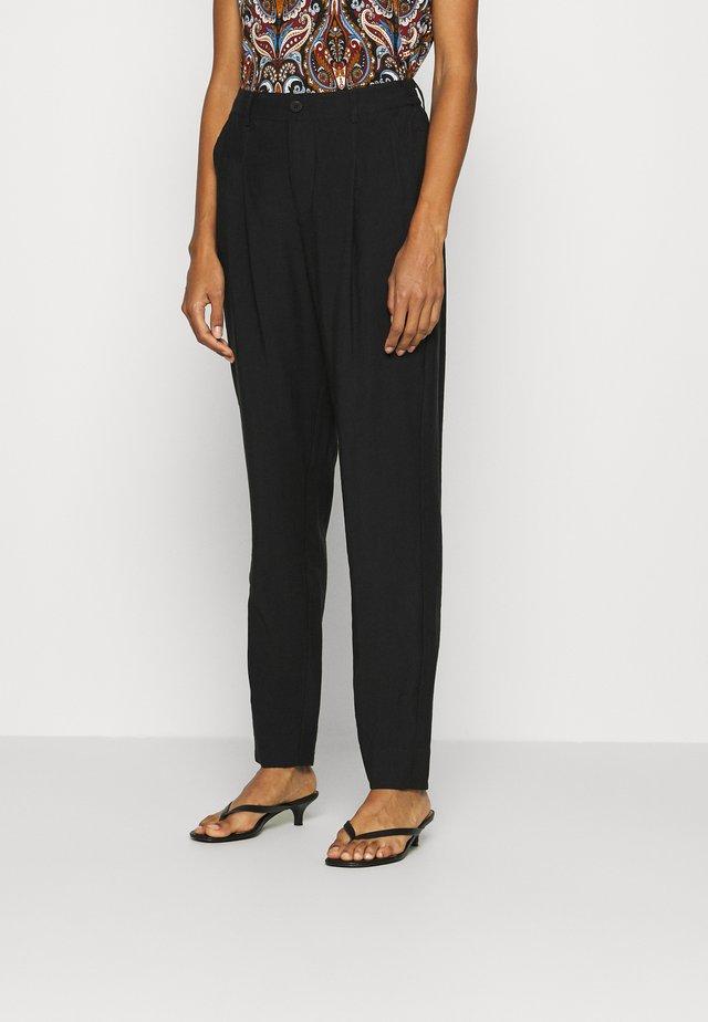TIFFCR PANTS - Trousers - pitch black
