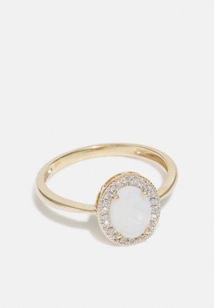 NATURAL DIAMOND RING CARAT OPAL HALO DIAMOND RINGS KT DIAMOND JEWELLERY GIFTS FOR WOMENS - Sormus - gold