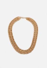 Burton Menswear London - CHUNKY CHAIN ROW NECKLACE - Collana - gold-coloured - 0
