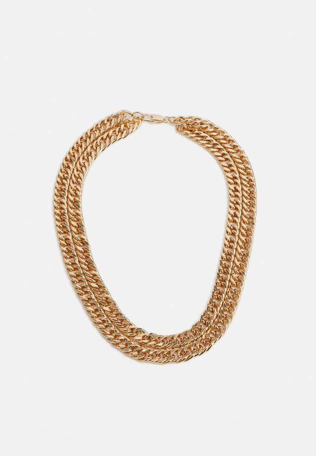 CHUNKY CHAIN ROW NECKLACE - Collana - gold-coloured