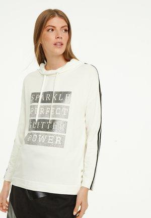 Sweatshirt - light cream placeed print