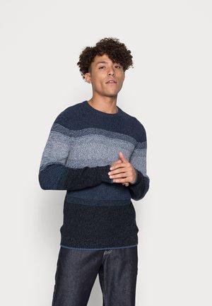 JJMELANGE CREW NEK - Stickad tröja - navy blazer