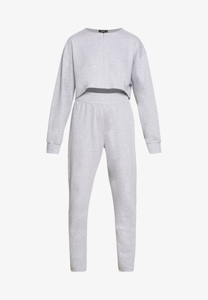 ZIP FRONT CROPPED  SLIM LINE SET - Chándal - grey