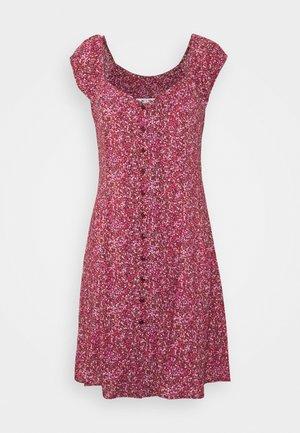 ERIN PARIS FLORAL DRESS - Day dress - red