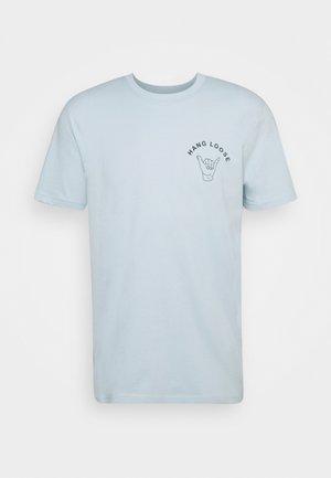 SLHCARTER O NECK TEE - T-shirt print - ballad blue