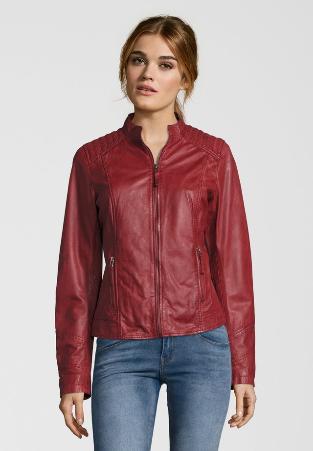 ANJA - Leather jacket - rot