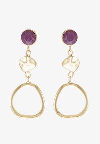 SNÖ of Sweden - LIW LONG MIX EAR - Earrings - gold-coloured/purple - 3