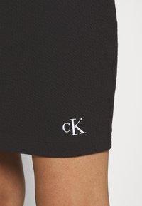 Calvin Klein Jeans - SLUB MINI SKIRT - Pencil skirt - black - 3