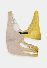 Jaded London - CUT OUT MIX CAMI - Blouse - brown/multi - 6