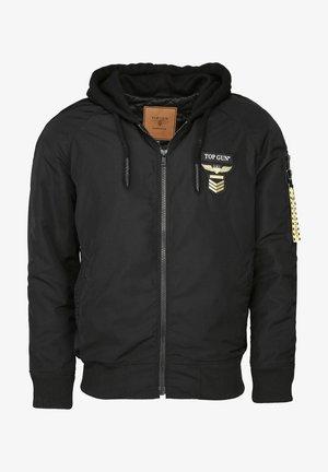 MIT KAPUZE CRAZY - Light jacket - black