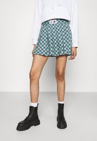 NEW girl ORDER - CHECKERBOARD SKIRT - Plisséskjørt - black/green - 0