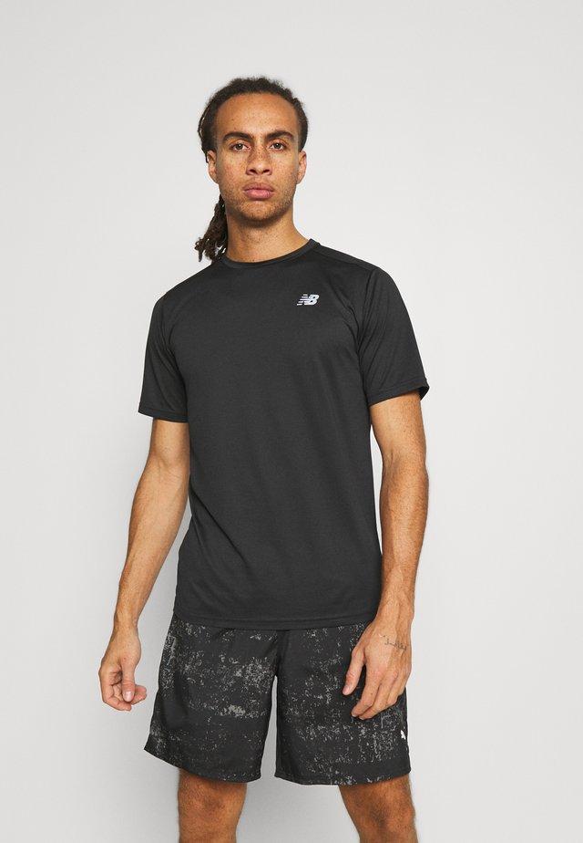 ACCELERATE SHORT SLEEVE - T-shirt - bas - black