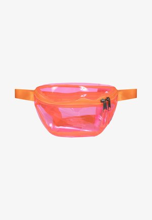 TRANSPARENT/CONTEMPORARY - Bum bag - fluo pink film
