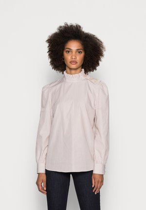 BLOUSE WITH BUTTON DETAILS - Bluser - toffee