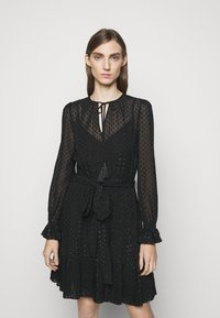 MICHAEL Michael Kors - TASSLE DRESS - Cocktail dress / Party dress - black - 0