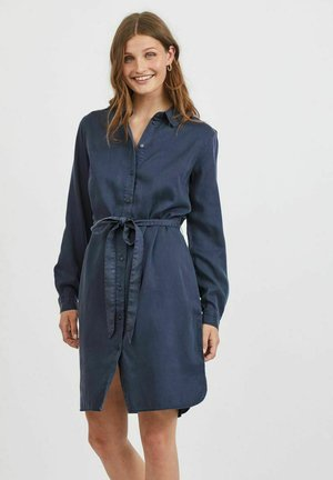 VIBISTA BELT DRESS - Denim dress - navy blazer