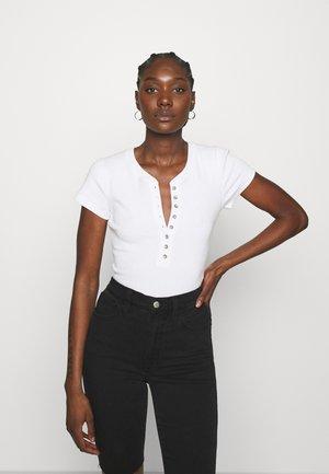 HENLEY  - Print T-shirt - white