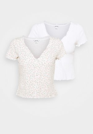 SONJA 2 PACK - Print T-shirt - off white