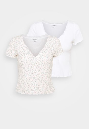 SONJA 2 PACK - T-shirts med print - off white