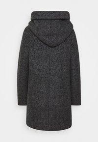 TOM TAILOR DENIM - BOUCLE COAT WITH HOOD - Classic coat - light tarmac grey melange - 1