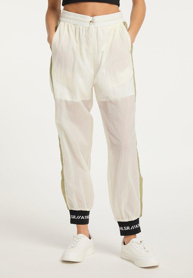 Teplákové kalhoty - oliv wollweiß
