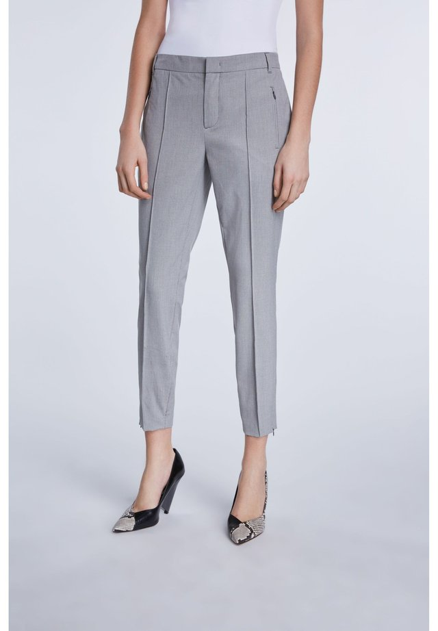 Trousers - grey/white