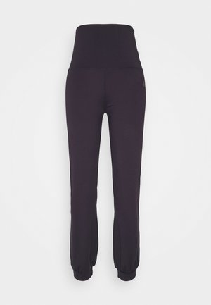 LONG PANTS ROLL DOWN - Träningsbyxor - dark aubergine