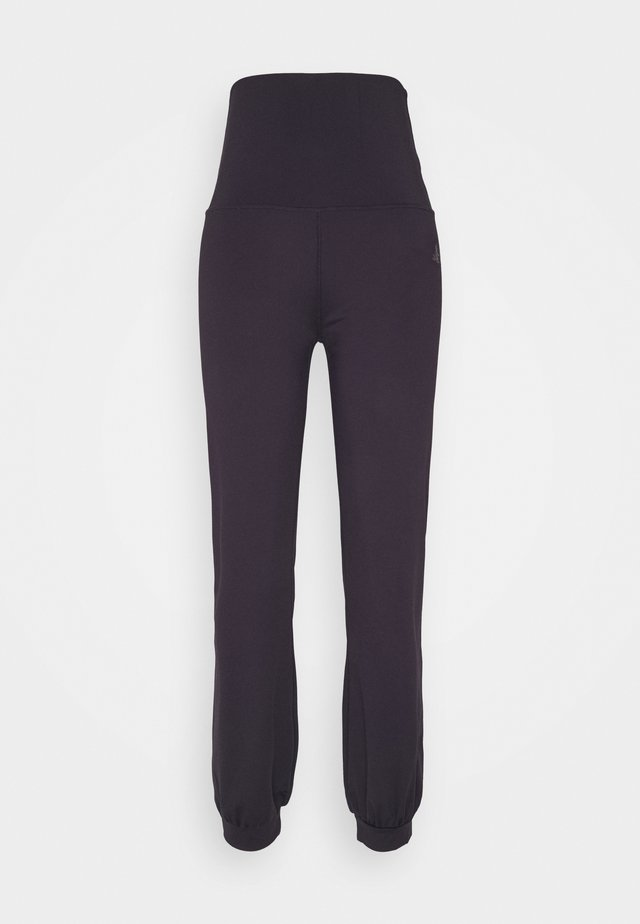 LONG PANTS ROLL DOWN - Verryttelyhousut - dark aubergine