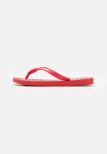 TOP LOGOMANIA  - Pool shoes - ruby red
