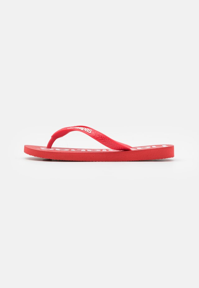 TOP LOGOMANIA PRINT UNISEX - Pool shoes - ruby red